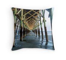 Isle of Palms Pier Throw Pillow
