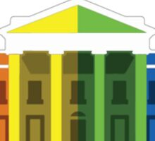 White House LGBTQ Rainbow Sticker