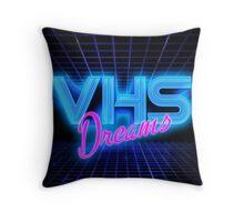 VHS Dreams Grid Throw Pillow