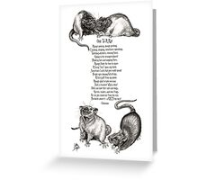 Ode To A Rat Greeting Card