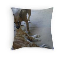 Well look what the dog dragged in......... Throw Pillow