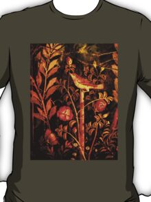 POMPEII COLLECTION NIGHTINGALE WITH RED ROSES T-Shirt