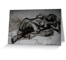 Lying Figure Greeting Card