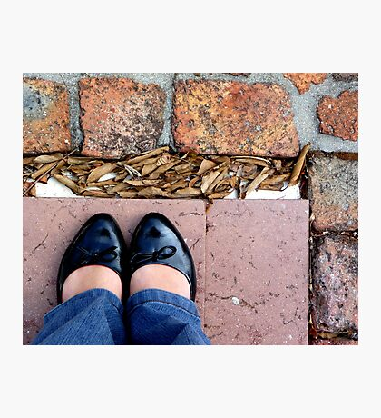 Jeans and pumps Photographic Print