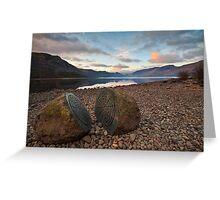 Millenium stones at dawn Greeting Card