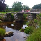 Four Girls On A Clapper Bridge by lezvee