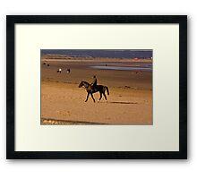 Redcar Beach Framed Print