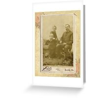 unknown family with the Stotts Family Greeting Card