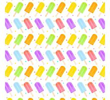 Tasty Summer Watercolour Popsicle Pattern Photographic Print