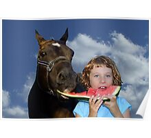 Sharing Watermelon With My Friend! Poster