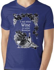 Wine and Grapes Mens V-Neck T-Shirt