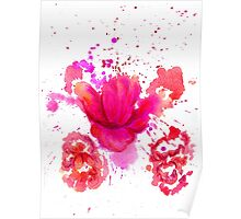 Watercolor Flower 2 Poster