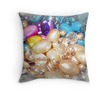 Colours Bright - Beads Throw Pillow