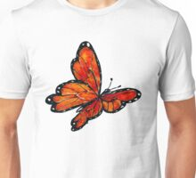 Watercolor Butterfly Design Unisex T-Shirt