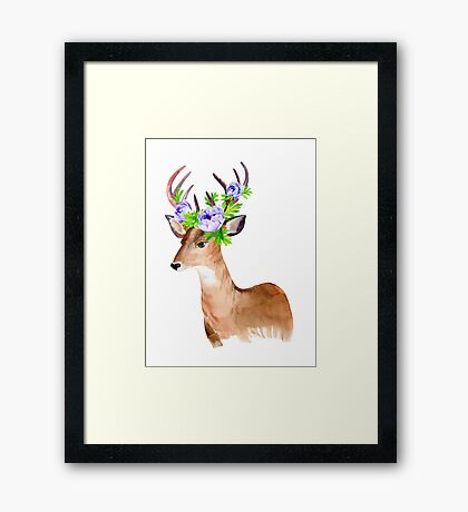 Oh, deer! Framed Print