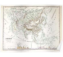 Atlas zu Alex V Humbolt's Cosmos 1851 0166 Mountains and Waterways of Asia Poster