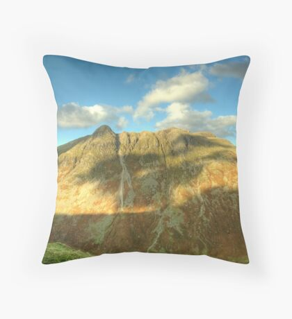 The Langdale Pikes in October Throw Pillow