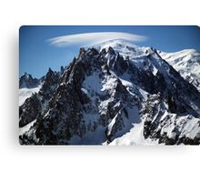 White Cap:  The Summit of Mont Blanc Canvas Print