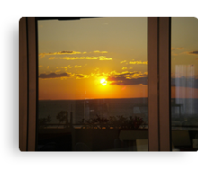 Sunset in a Window Canvas Print