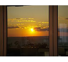 Sunset in a Window Photographic Print