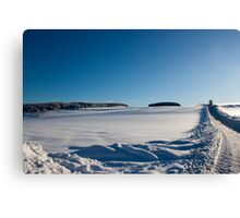 Snowy Aberdeenshire countryside Canvas Print