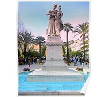 Wonderful statue in Menton Poster