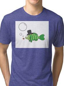 Fish in a hat. Tri-blend T-Shirt