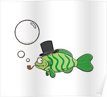 Fish in a hat. Poster