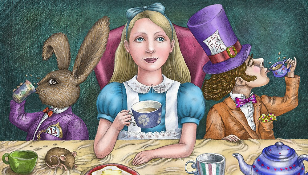 alice with the mad hatter and march hare by vian