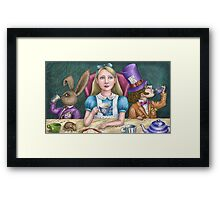 alice with the mad hatter and march hare Framed Print