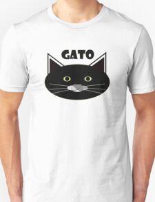 Gato Black Unisex T-Shirt