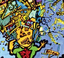 Picasso's Brain Sticker