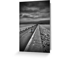 It's a lonely road Greeting Card