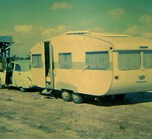 The Old FJ and the Franklin Caravan - circa 1967 by Gryphonn