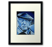 Cubist Portrait of Pablo Picasso: The Blue Period Framed Print