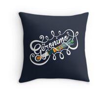 Doctor Who Geronimo! Throw Pillow