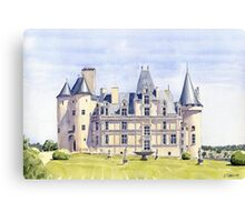 Château at La Rochefoucauld, France Canvas Print