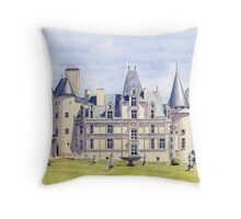 Château at La Rochefoucauld, France Throw Pillow