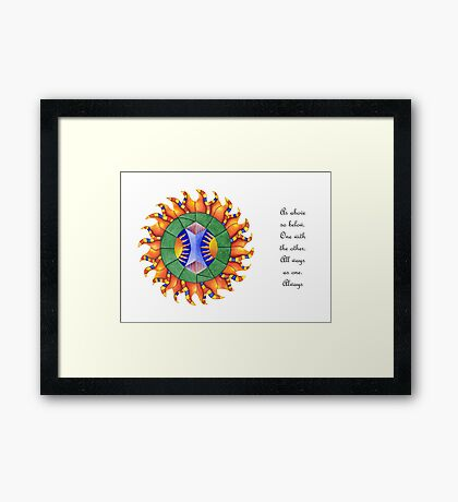 Shine On w/Msg [greeting card only] Framed Print