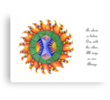 Shine On w/Msg [greeting card only] Canvas Print