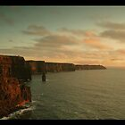 Cliffs of Moher at sunset by Simone Kelly