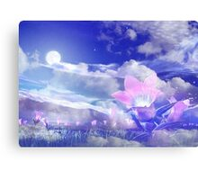 Moon Flower Canvas Print