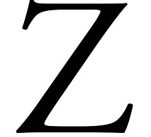 Z, Alphabet Letter, Zulu, Zero, A to Z, 26th Letter of Alphabet, Initial, Name, Letters, Tag, Nick Name by TOM HILL - Designer