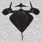 Lockheed M-21 Blackbird  with D-21 drone by John Gaffen