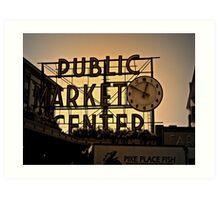 Seatte's Pike Street Market Art Print
