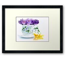 A cup full of Spring Framed Print