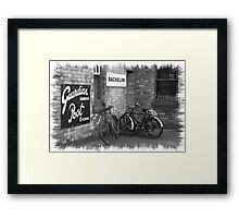 Bicycles B&W Framed Print