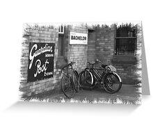 Bicycles B&W Greeting Card