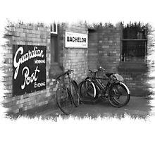 Bicycles B&W Photographic Print