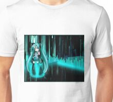 Hastume Miku Chibi+equalizer Unisex T-Shirt